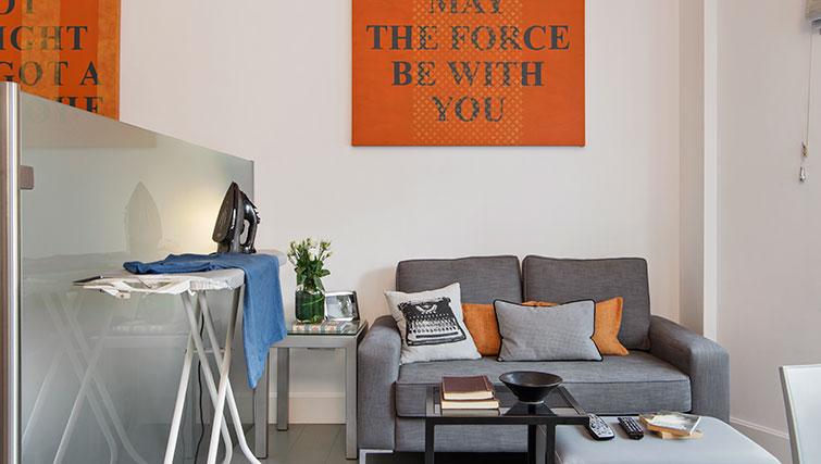 Small sofa at Templeton Place Aparthotel - Citybase Apartments