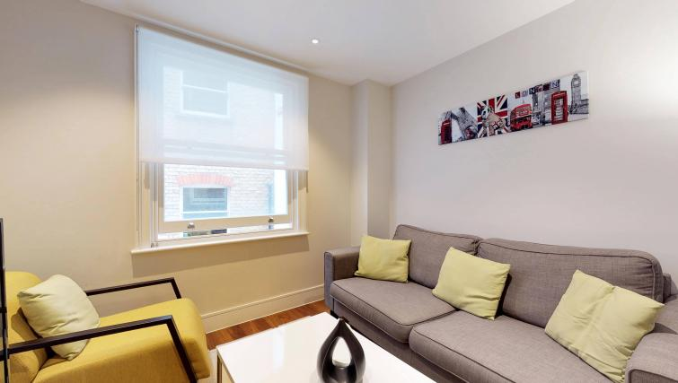 Living room at Lovat Lane Apartment - Citybase Apartments