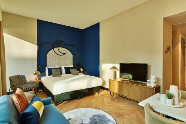 Stylish bedroom at The Garden Apartments, Amsterdam - Citybase Apartments