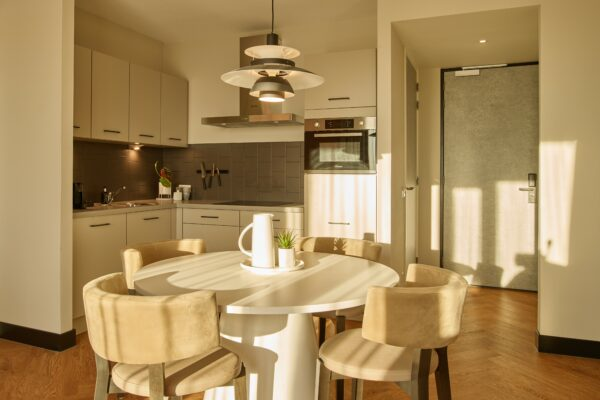 Kitchen at The Garden Apartments, Amsterdam - Citybase Apartments