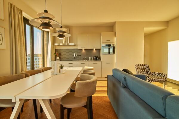 Dining table at The Garden Apartments, Amsterdam - Citybase Apartments