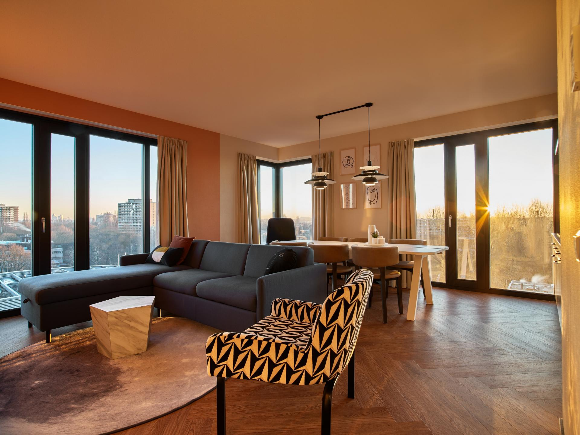 Sofa at The Garden Apartments, Amstelveen, Amsterdam - Citybase Apartments