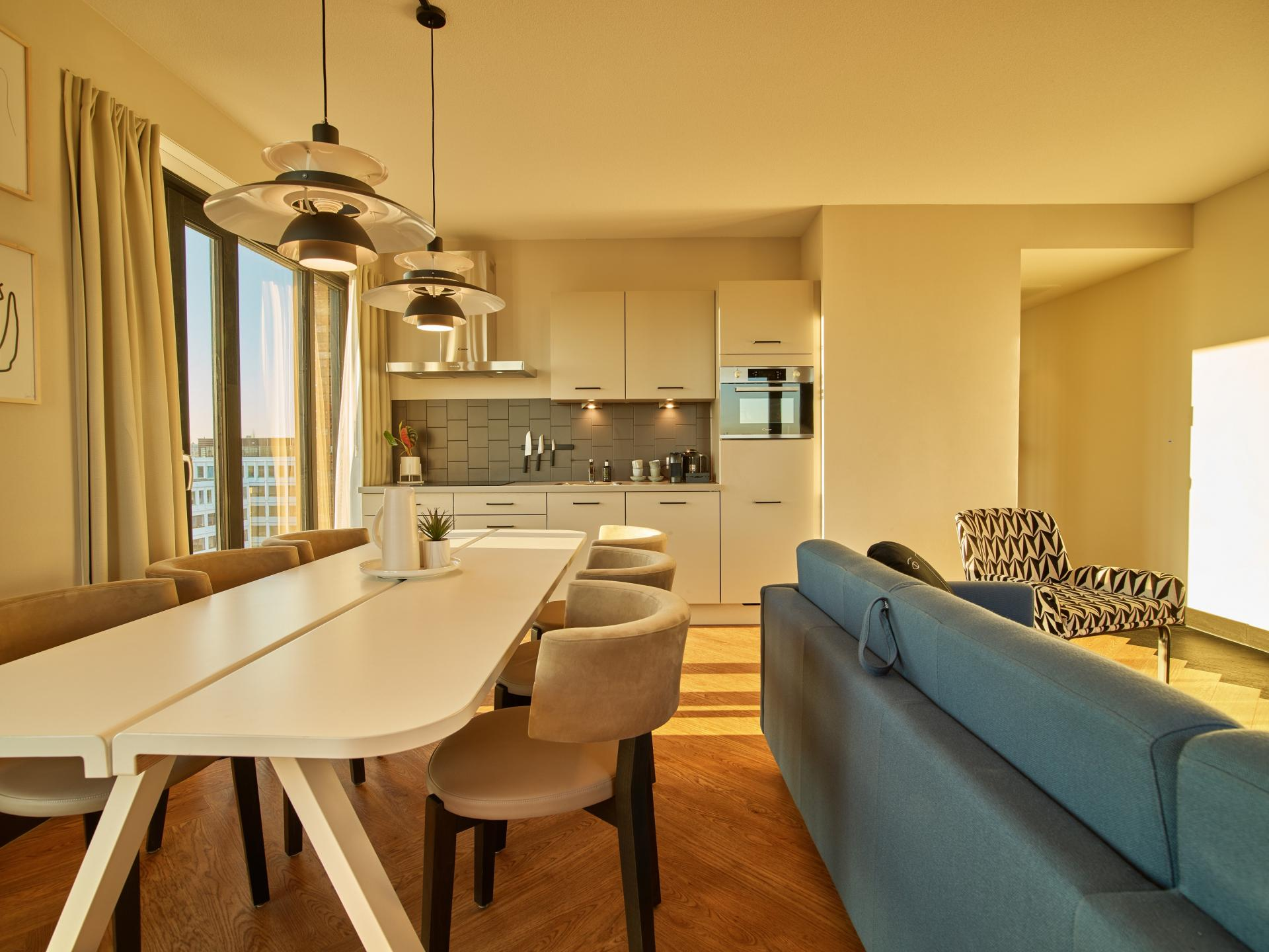 Dining table at The Garden Apartments, Amstelveen, Amsterdam - Citybase Apartments