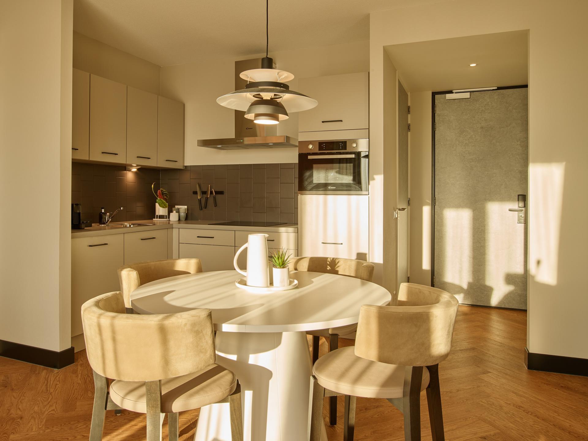 Kitchen at The Garden Apartments, Amstelveen, Amsterdam - Citybase Apartments
