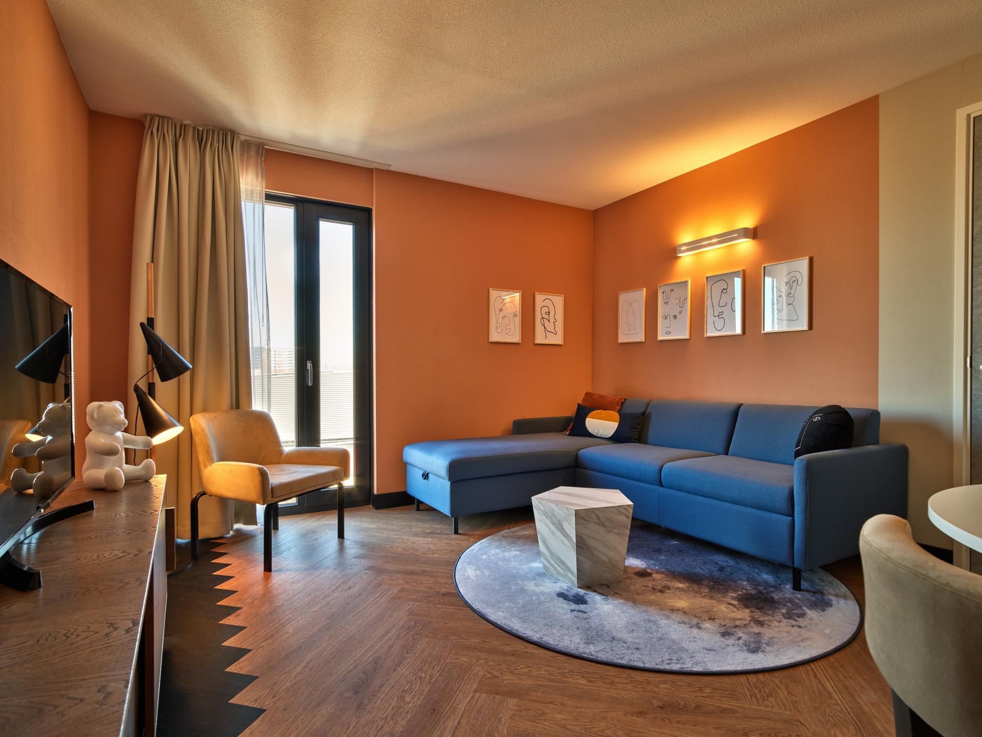Living area at The Garden Apartments - Citybase Apartments