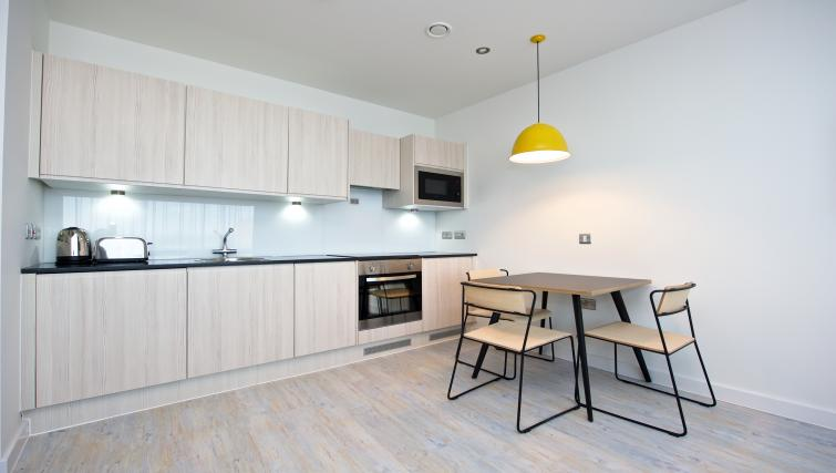 Dining area at Staycity Liverpool Waterfront - Citybase Apartments