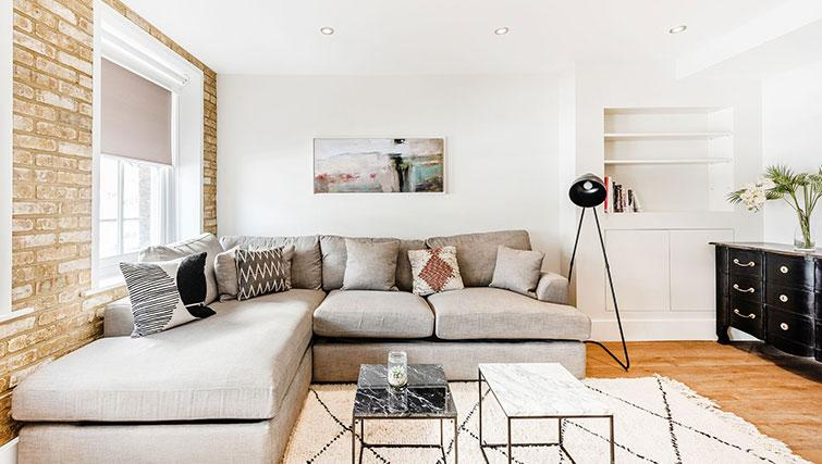 Sofa at BE: Drury Lane Apartments - Citybase Apartments