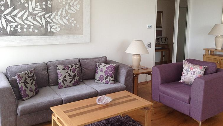 Spacious living area at Belgrave Court Apartments - Citybase Apartments