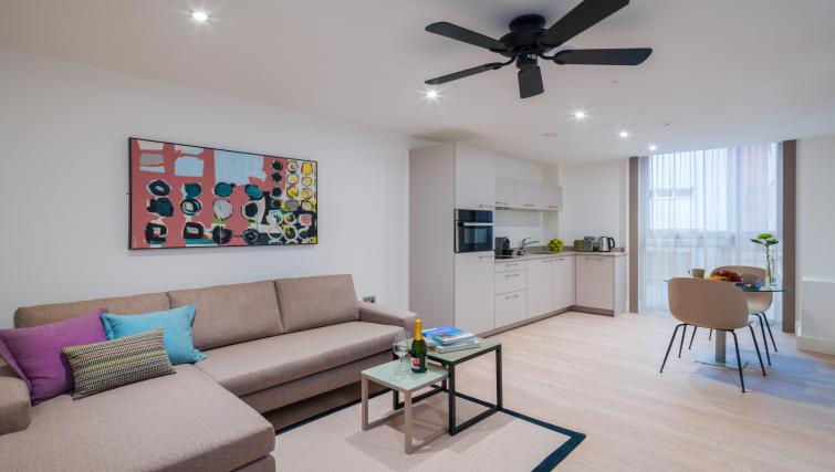 Modern living room at The Chronicle Aparthotel - Citybase Apartments