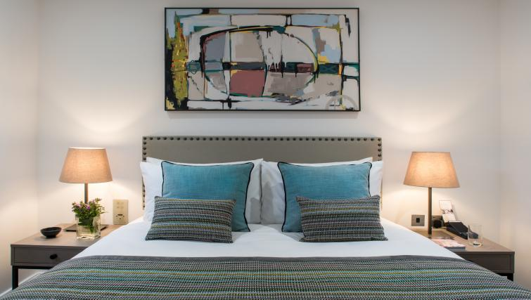 Bedding at The Chronicle Aparthotel - Citybase Apartments