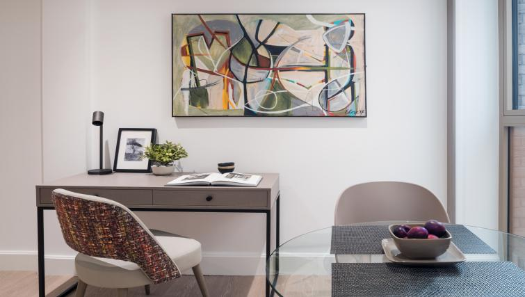 Desk area at The Chronicle Aparthotel - Citybase Apartments