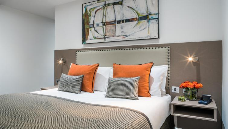 Modern bedroom at The Chronicle Aparthotel - Citybase Apartments