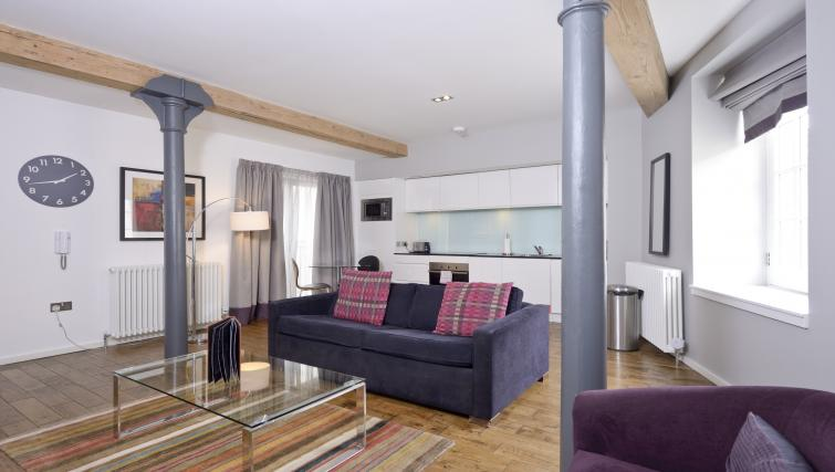 Modern living area at Malt House Apartments - Citybase Apartments