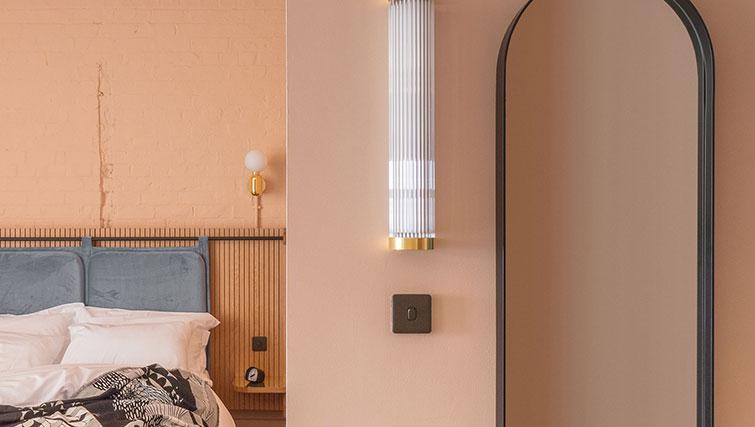 Stylish bedroom at Whitworth Locke Apartments - Citybase Apartments