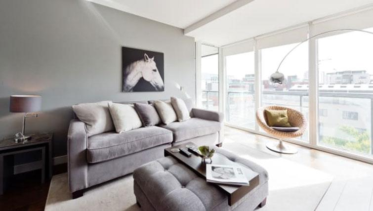 Living room at Riverside Quay Apartments - Citybase Apartments