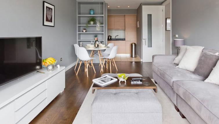 Modern living room at Riverside Quay Apartments - Citybase Apartments
