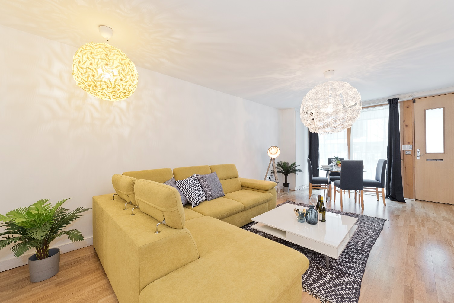 Stylish living room at Riverside Quay Apartments - Citybase Apartments