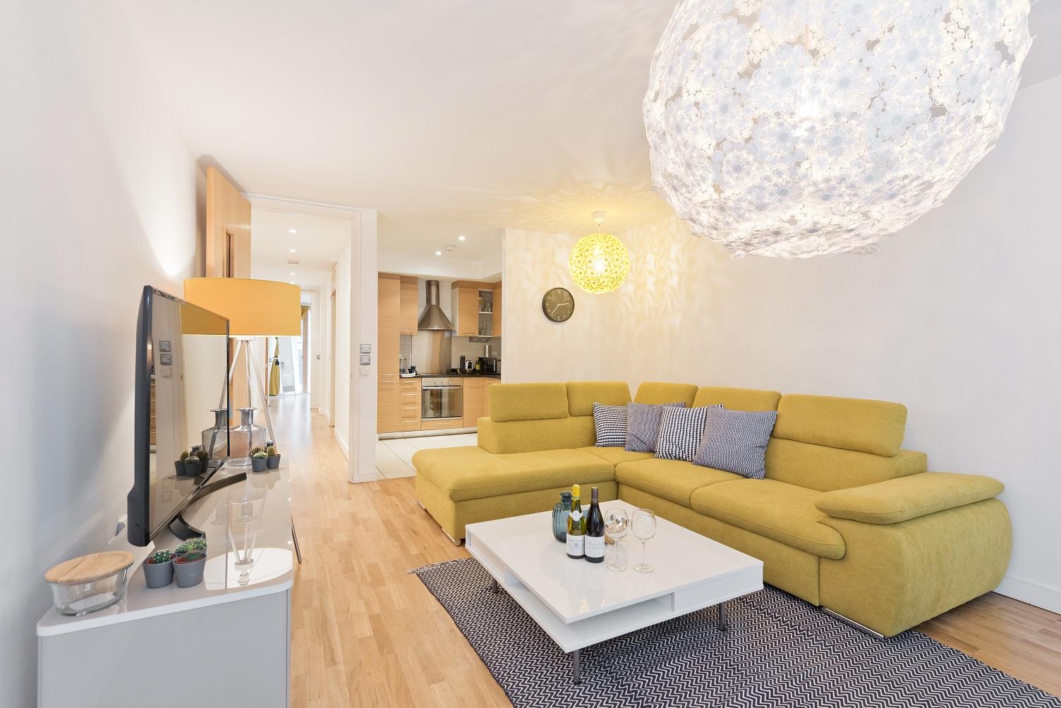 Sofa at Riverside Quay Apartments - Citybase Apartments