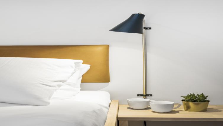 Bedroom details at Verksgata Apartments - Citybase Apartments
