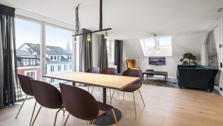 Dining table at Verksgata Apartments - Citybase Apartments