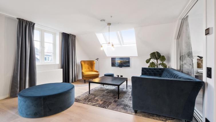 Living room at Verksgata Apartments - Citybase Apartments