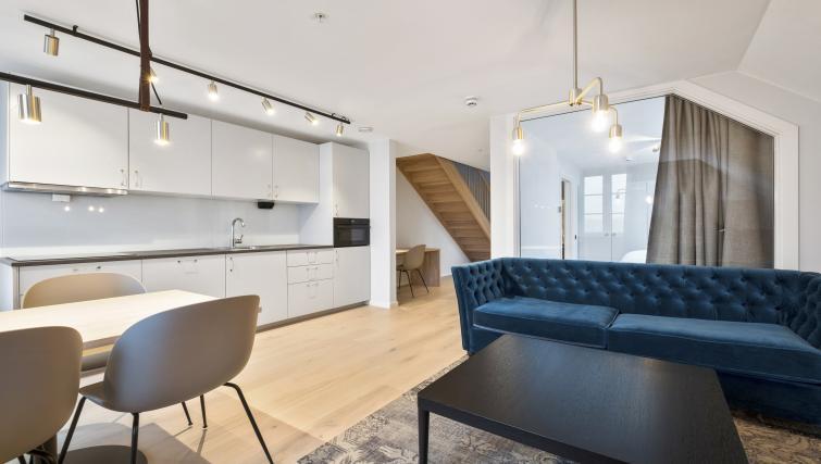 Sofa at Verksgata Apartments - Citybase Apartments