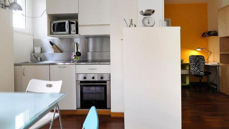 Kitchen at Eugenio Brizi Apartment - Citybase Apartments
