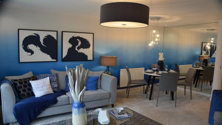 Living room at Birchover Hollygate Apartments - Citybase Apartments