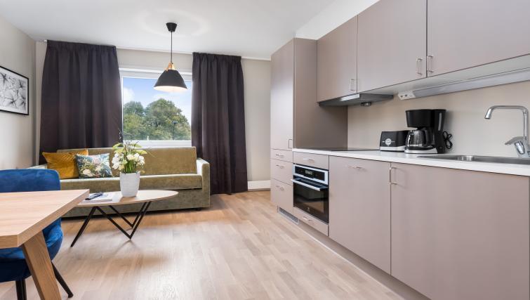 Kitchen at Lagårdsveien 61 Serviced Apartments - Citybase Apartments