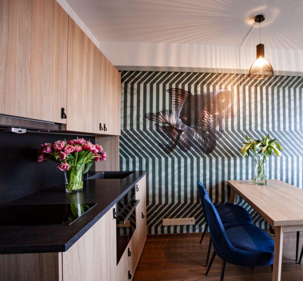 Kitchen facilities at Lagårdsveien 61 Serviced Apartments - Citybase Apartments