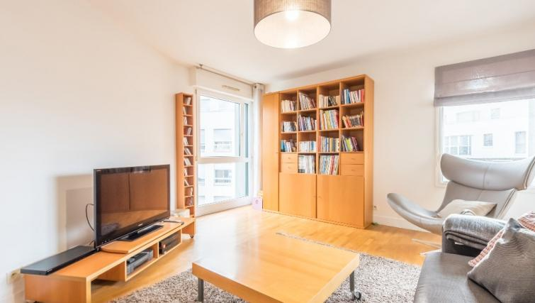 Living space at Falguiere Apartment - Citybase Apartments