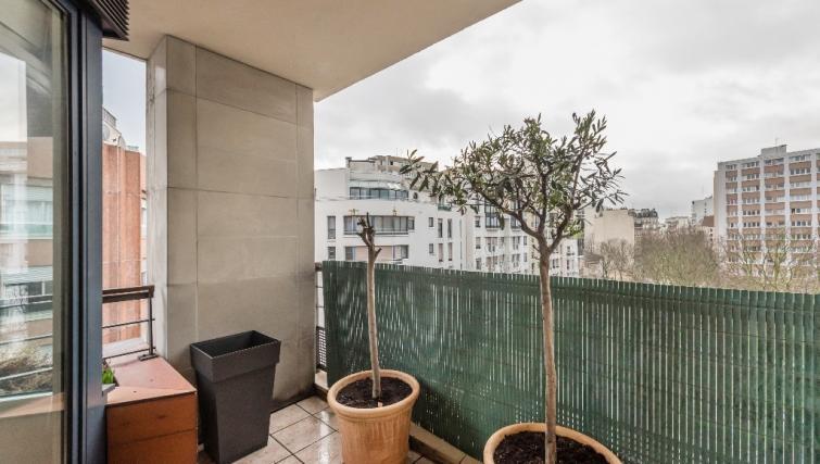 Balcony at Falguiere Apartment - Citybase Apartments