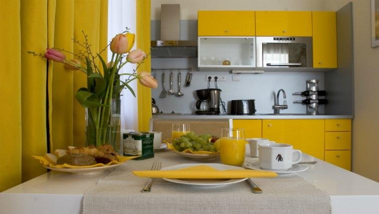 Stylish kitchen at Mamaison Residence Sulekova - Citybase Apartments