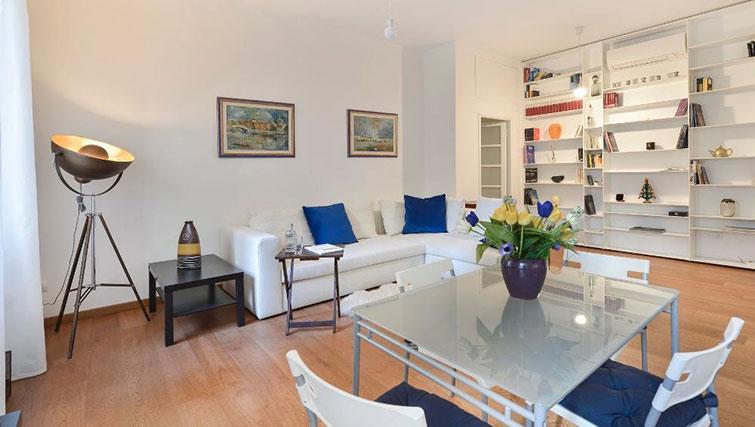 Stylish living room at Moscova Apartment - Citybase Apartments
