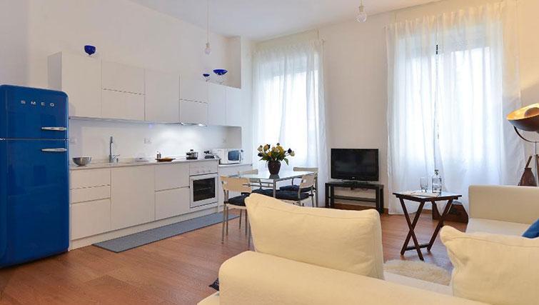 TV at Moscova Apartment - Citybase Apartments