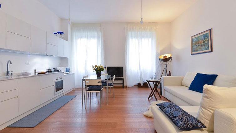 Spacious lounge at Moscova Apartment - Citybase Apartments