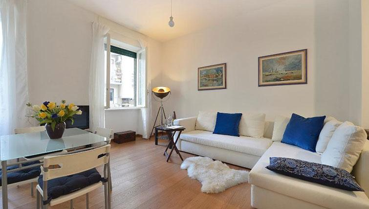Living room at Moscova Apartment - Citybase Apartments