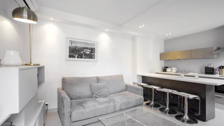 Living area at Saint Lazare Apartments - Citybase Apartments