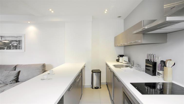 Kitchenette at Saint Lazare Apartments - Citybase Apartments