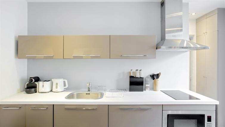 Kitchen at Saint Lazare Apartments - Citybase Apartments
