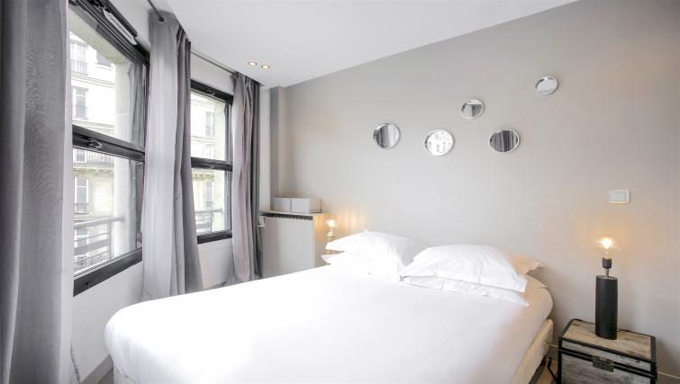 Double bed at Saint Lazare Apartments - Citybase Apartments