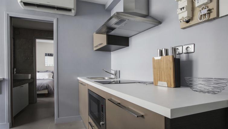 Kitchen utensils at Saint Lazare Apartments - Citybase Apartments