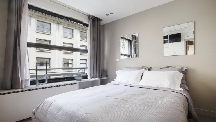 Modern bedroom at Saint Lazare Apartments - Citybase Apartments