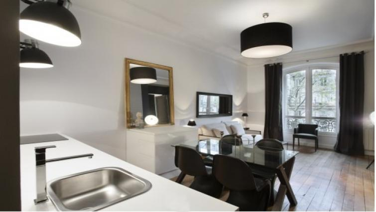 Open-pla living are at Drouots Apartments - Citybase Apartments