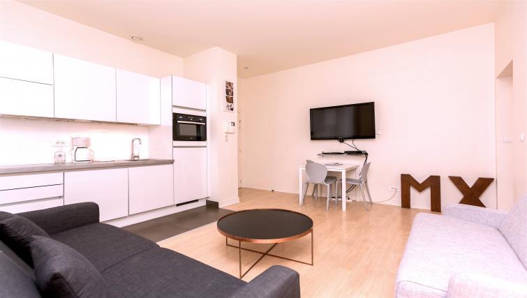 Living room at Drouots Apartments - Citybase Apartments