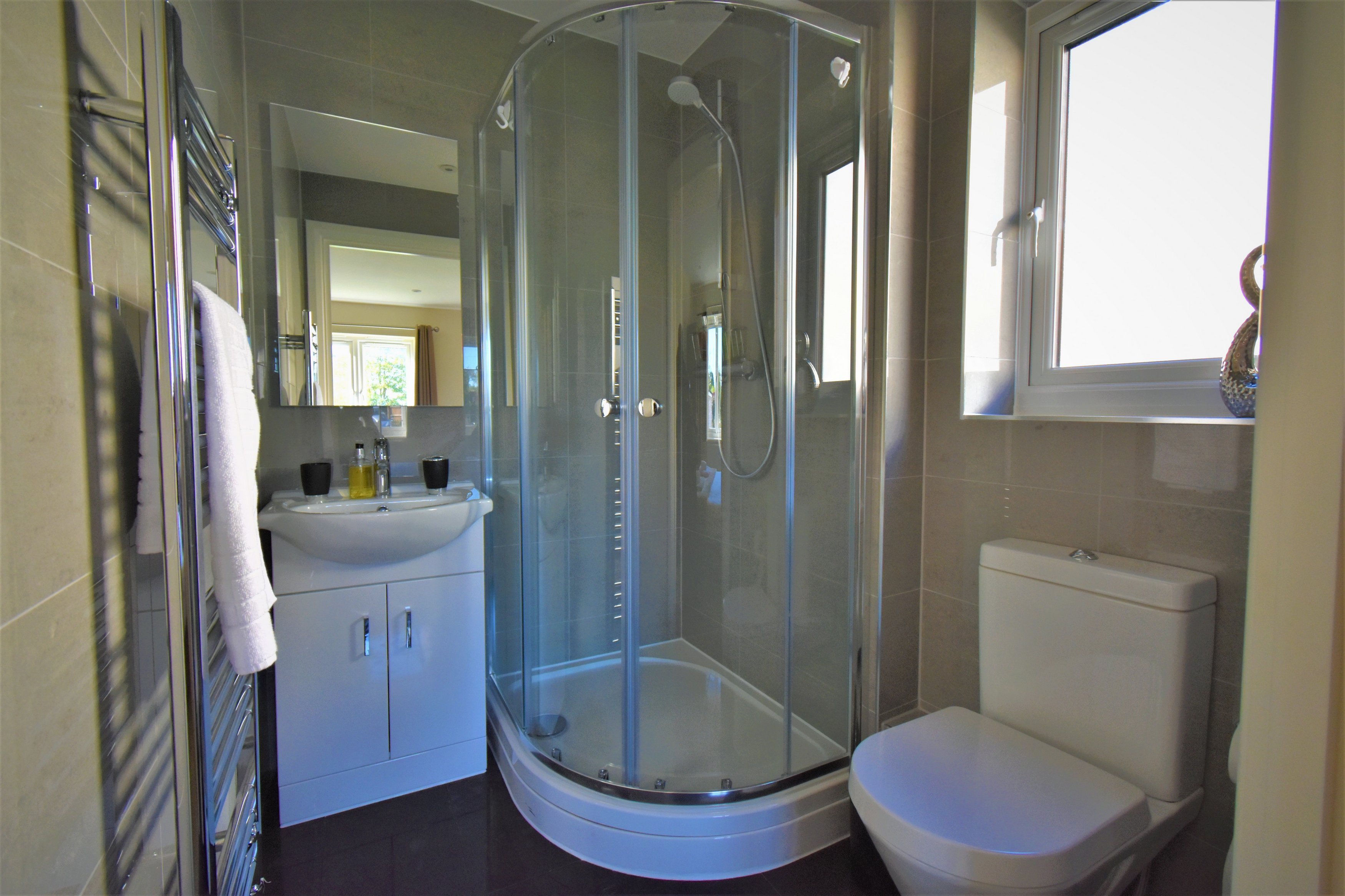 Shower at London Heathrow Living Serviced Apartments - Citybase Apartments