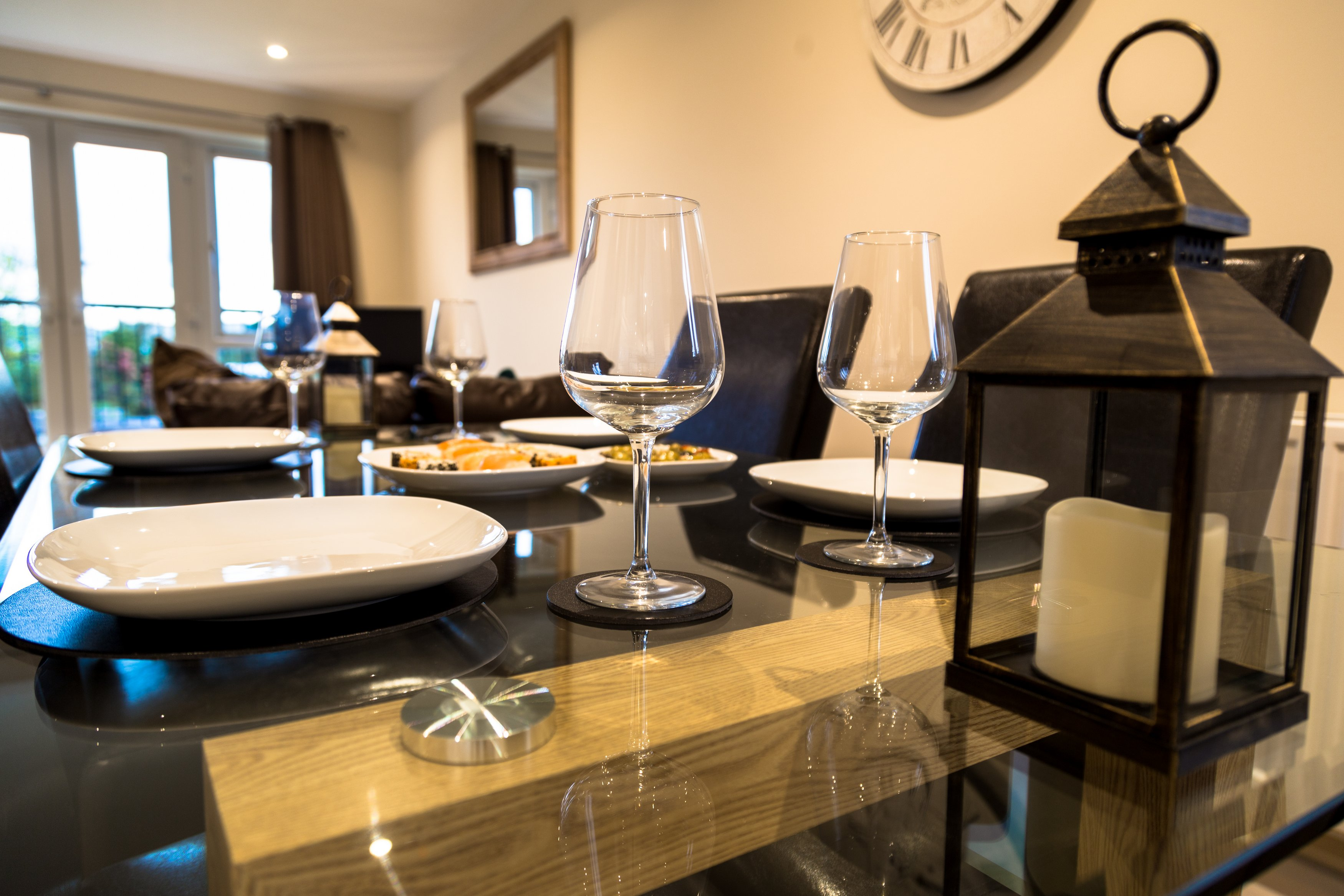 Dressed table at London Heathrow Living Serviced Apartments - Citybase Apartments