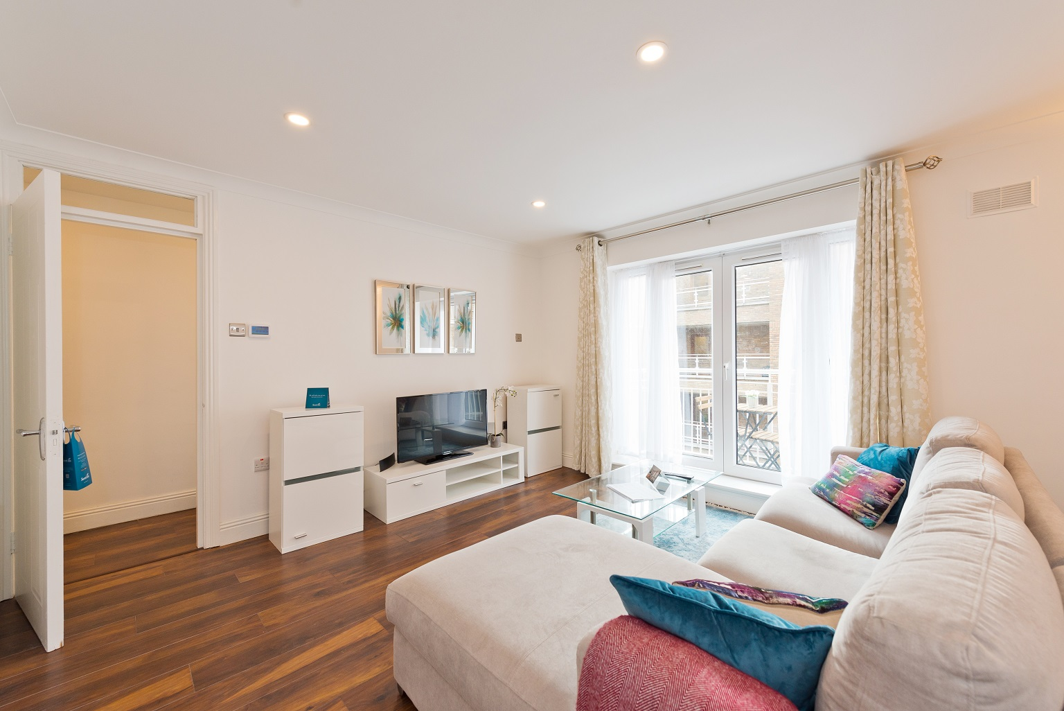 Spacious living area at Grand Canal Apartments - Citybase Apartments