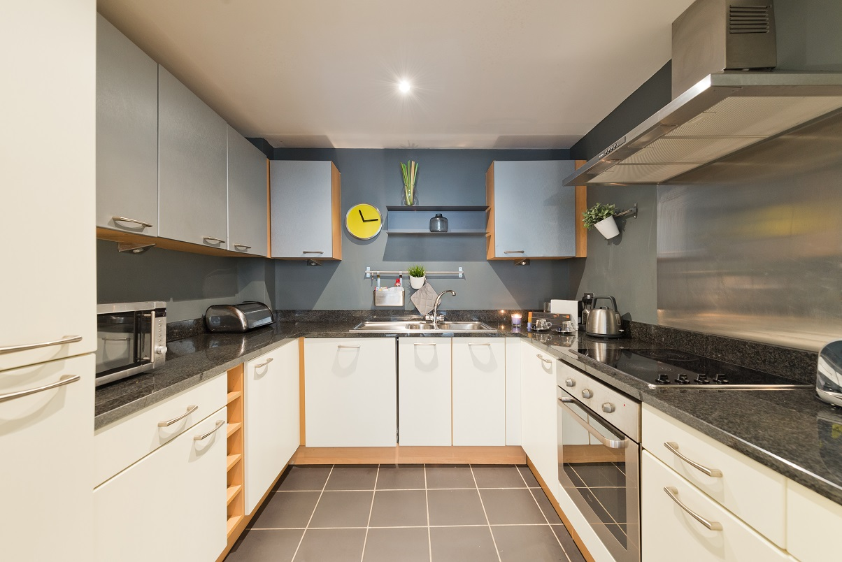 Kitchen facilities at Grand Canal Apartments - Citybase Apartments