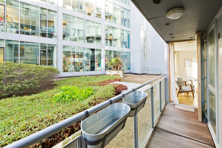 Balcony at Grand Canal Apartments - Citybase Apartments